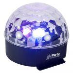 Party Light & Sound Projetor Luz c/ 6 Leds 1W Rgbwav Mic