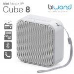 Biwond Mini Coluna Bluetooth 5W Cube 8 White