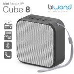 Biwond Mini Coluna Bluetooth 5W Cube 8 Black