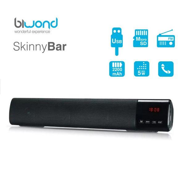 Soundbar Biwond Bluetooth SkinnyBar Preto