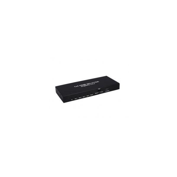 SPLITTER HDMI 2.0 1X4 4K?60Hz UHD, 18GB, HDR, EDID TCSPLITS244KEDID