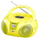 Brigmton Rádio Cd Mp3 W-408 Rádio Cd Am/fm Mp3 usb Yellow