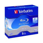Verbatim BD-R 25Gb Single Layer 6x (5 Un) - 43715