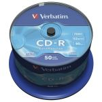 Verbatim CD-R 80Mn 52x Pack de 50