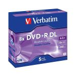 Verbatim DVD+R 8,5Gb 8x Double Layer 5 uni