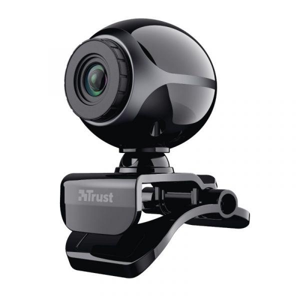 Trust Exis Webcam Black Silver - 17003
