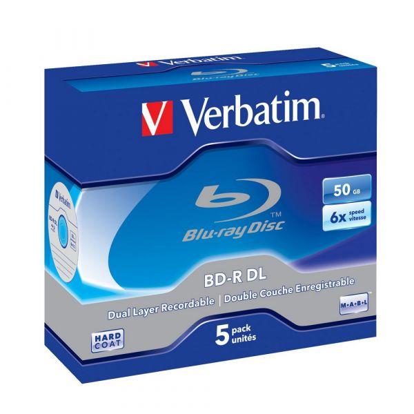 Verbatim BD-R 50GB Double Layer 6x (5 Un) - 43748 - KuantoKusta on
