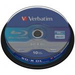 Verbatim Blu-Ray Disc -R DL 6x 50Gb Spindle 10 - 43746