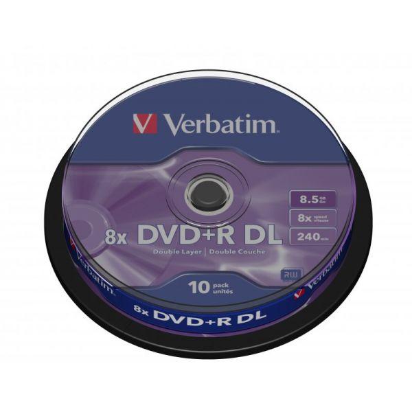 Verbatim 8 5gb Dvd R Dl 8x Matt Silver Surface Cake 10 43666 Compara Preços