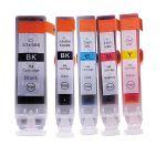 Pack 5 Tinteiros Canon PGI-5BK/CLI-8BK/CLI-8C/CLI-8M/CLI-8Y Compatível