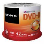 Sony DVD-R 4,7GB Bulk Pack de 50 - 50DMR47SB