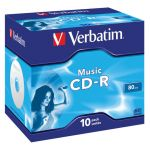 Verbatim CD-R Audio Music Life Plus 80min 16x Crystal Pack 10