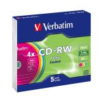 Verbatim DataLifePlus 4x 700 MB Pack 5 Slim colours - 43133