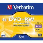 Verbatim 4.7Gb DVD-RW 4X Pack 5 - 43285