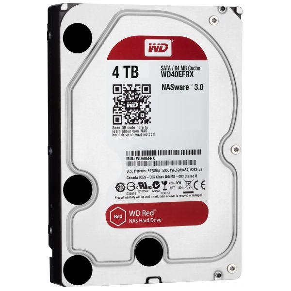 Disco Rígido Western Digital 4TB 3.5 Red 5400rpm SATA III 64MB - WD40EFRX