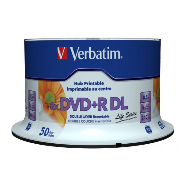 Verbatim DVD+R DL 8.5 Gb (8x) Pack de 50 - KuantoKusta on