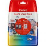 Canon Pack Papel Fotográfico 4x6 + PG-540XL/CL-540XL Black & XL Color - 5222B014