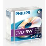 Philips DVD+R 4.7GB 4X Jewell Pack 5