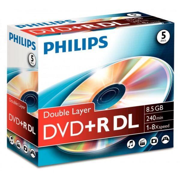 Philips Dvd R 8 5gb Dual Layer 8x Dr8s8j05c Compara Preços