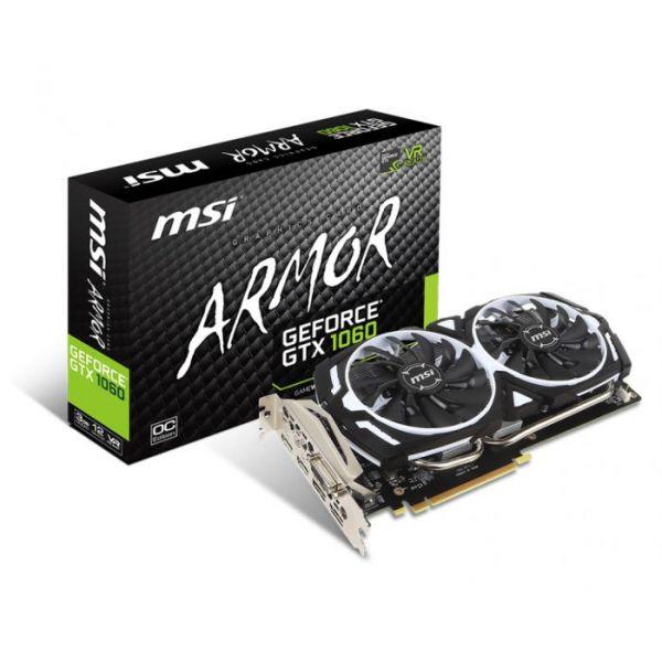 MSI GeForce GTX1060 ARMOR OCV1 3GB GDDR5 - 912-V328-033