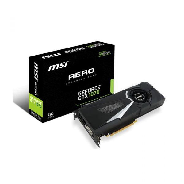 MSI GeForce GTX1070 Aero OC 8GB GDDR5 - V330-011R