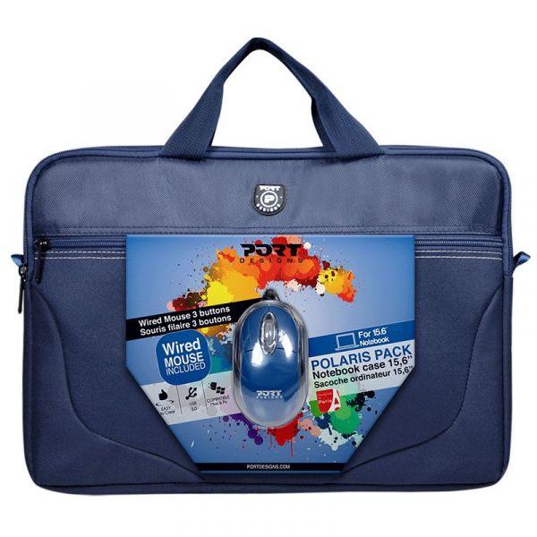 "Port Designs Bundle Polaris II BLUE 15"" + Rato USB - 501732"