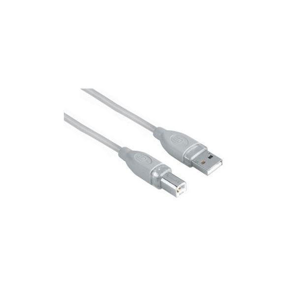 Hama Cabo USB AM/BM (1,8Mts) Cinzento