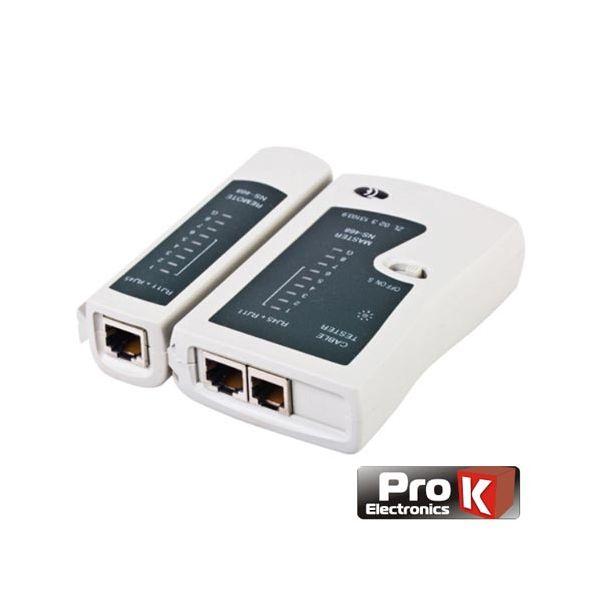 Prok Electronics Testador De Cabos Rede RJ11/RJ45