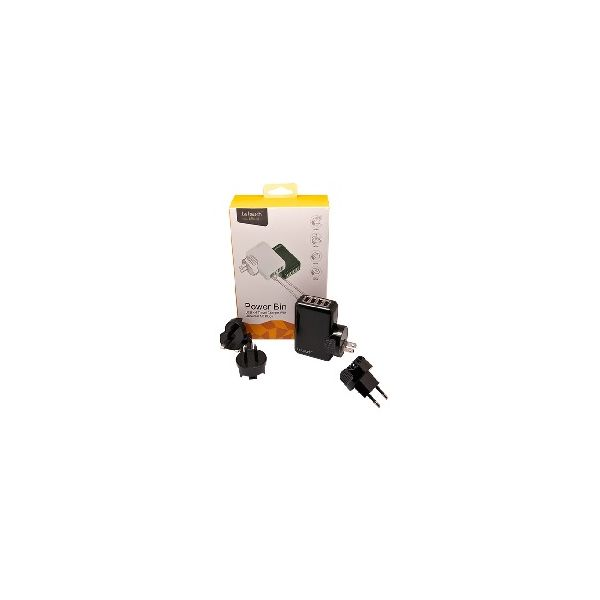 Carregador USB 4 Portas Preto 2.1Amp - LT-USBCH4BK