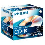 Philips CD-R 90Min 800MB 40x Jewel Case Pack de 10 - CR8D8NJ10