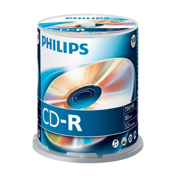 Philips CD-R 700Mb 52x 80min Spindle Pack 100 - CR7D5NB00