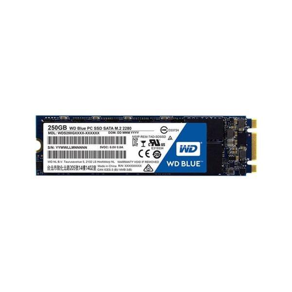 Western Digital 250GB Blue SATA III M.2 SSD - WDS250G1B0B