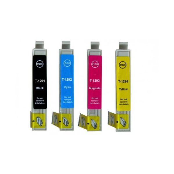Pack 4 Tinteiros Epson T1291 Compatíveis