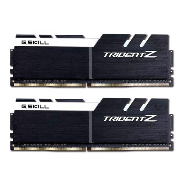 Memória RAM G.Skill 16GB Trident Z (2x 8GB) DDR4 3200MHz PC4-25600 CL15 Silver/White - F4-3200C15D-16GTZSW