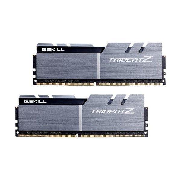 Memória RAM G.Skill 32GB Trident Z (2x 16GB) DDR4 3200MHz PC4-25600 CL14 Silver/Black - F4-3200C14D-32GTZSK