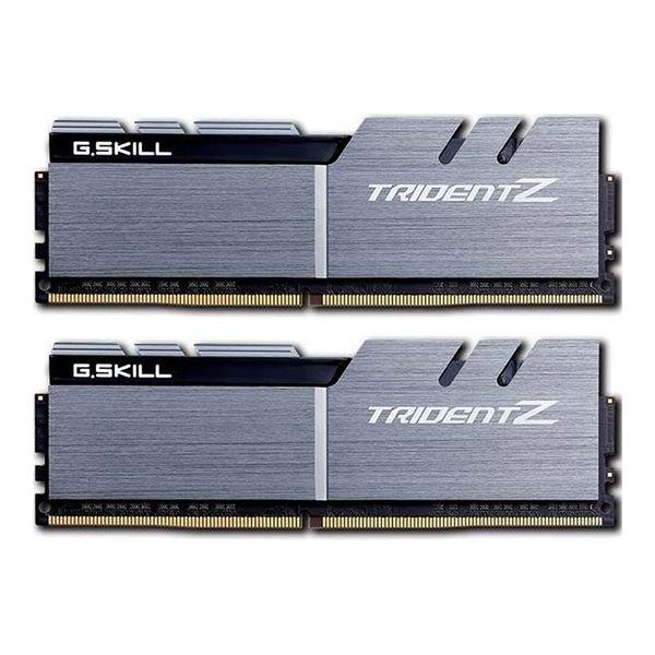 Memória RAM G.Skill 16GB Trident Z (2x 8GB) DDR4 3200MHz PC4-25600 CL14 Silver/Black - F4-3200C14D-16GTZSK