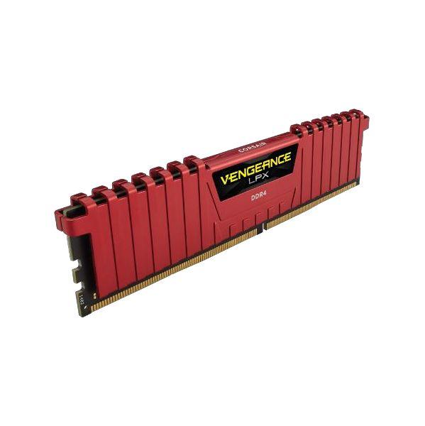 Memória RAM Corsair 32GB Vengeance LPX (4x 8GB) DDR4 3000MHz PC4-24000 CL15 Red - CMK32GX4M4C3000C15R