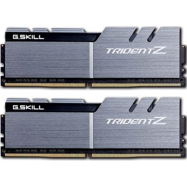 Memória RAM G.Skill 32GB Trident Z (2x 16GB) DDR4 3200MHz PC4-25600 CL16 Silver/Black - F4-3200C16D-32GTZSK