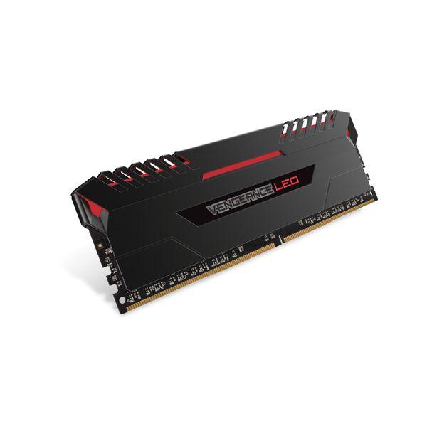 Memória RAM Corsair 32GB Vengeance LED (4x 8GB) DDR4 3000MHz PC4-24000 CL15 Red - CMU32GX4M4C3000C15R
