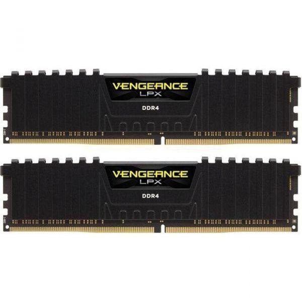 Memória RAM Corsair 8GB Vengeance LPX (2x 4GB) DDR4 3733Mhz PC4-29800 CL17 Black - CMK8GX4M2B3733C17
