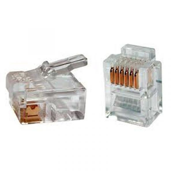 iggual Conetor Telefónico Ouro RJ11 6P6C (100 uds)
