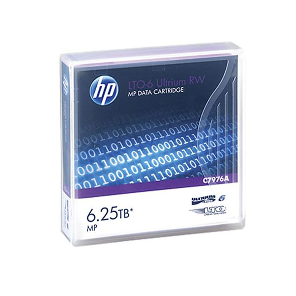 HP LTO6 MP Ultrium Non Custom Lbl 20 Pk - C7976AN