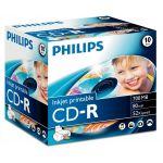 Philips CD-R 80MIN 700MB 52x Inkjet - CR7D5JJ10