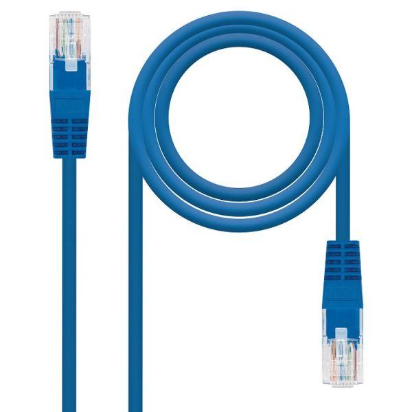 Nanocable Cabo de Rede 5m Cat5e U/UTP (UTP) Azul - 10.20.0105-BL