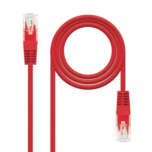Nanocable Cabo de Rede 1m Cat5e U/UTP (UTP) Vermelho - 10.20.0101-R