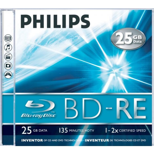 Philips BD RE Blu-Ray Regravavel 25GB 2X