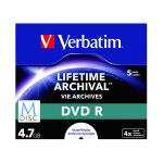 Verbatim M-disc Dvd R 4,7gb 4x Speed Jewel Case Printable