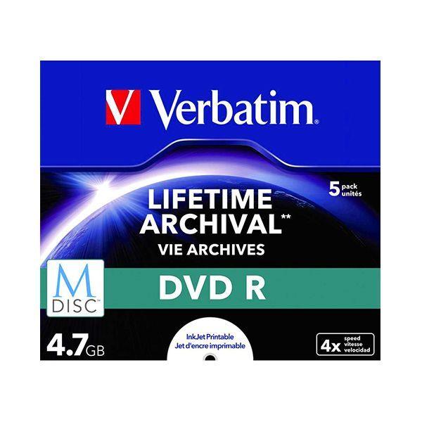 Verbatim M-disc Dvd R 4,7gb 4x Speed Jewel Case Printable