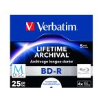 Verbatim M-Disc BD-R Blu-Ray 25GB 4x Speed Jewel Case Printable