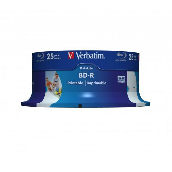 Verbatim BD-R Blu-Ray 25GB 6x Speed DL Wide Printable Pack 25